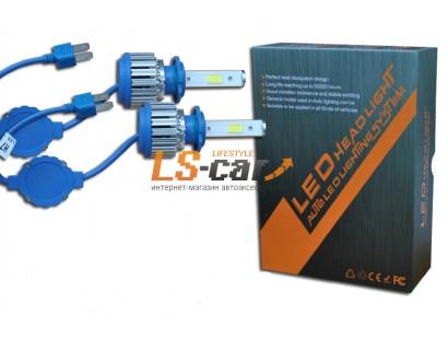 Лампа головного света со светодиодами CREE HB-3(9005) 36W-3600LM/BLUE/ 9-36V(со встр, вентилятором)