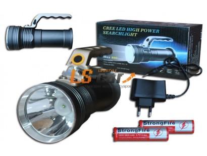 Фонарь светодиодный Q-5 металлический, с ручкой Chip1xCREE XPG/XM-L T6 (зарядка от розетки)