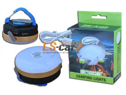 Фонарь переносной 3W+9LED  (зарядка от USB) 4-функции