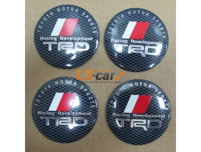 "Наклейка  OR-6 ""TRD"" на автомоб, колпаки, диски (диаметр 65мм.) пластик/ комп. 4шт."