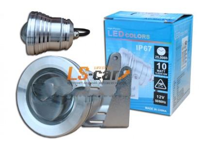 Фара противотуманная IP-67 со светодиодами (линза) 1-LED круглый  D=70, 1шт