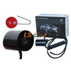 Фонарь освещения заднего номера 12В LED с проекцией логотипа PEUGEOT (на самоклейке)