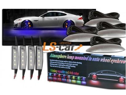 Подсветка  светодиодная колесных дисков- цвет ГОЛУБОЙ  (комплект)
