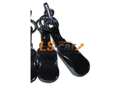 Брелок AE 1235 - LAND ROVER  хром, кожа, карабин