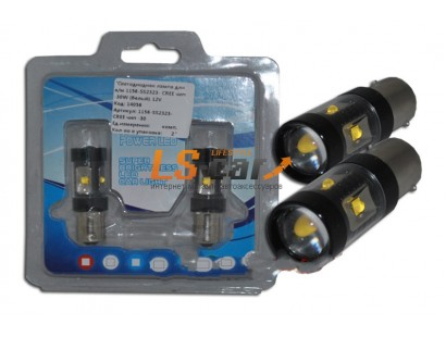 Светодиодная лампа для а/м 1156-SS2323- CREE чип -30W (белый) 12V