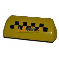 """Знак """"TAXI""""  (шашка) Большой 6 магнитов, подсветка 12V, цвет ЖЕЛТЫЙ"""