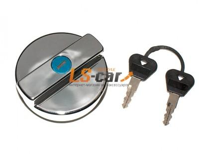 Крышка бензобака с ключом Dollex Ваз 2101-2107,2121 пластик, хром (д9хш8хв4см)/KTB-007