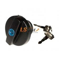 Крышка бензобака с ключом Dollex Ваз 2108-2115 пластик, черная (д7хш6хв7см)/KTB-008