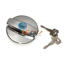 Крышка бензобака с ключом Dollex Ваз 2108-2115 пластик, хром (д7хш6хв7см)/KTB-009