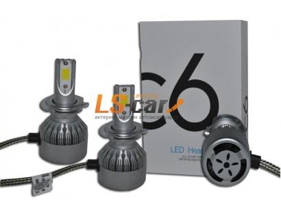Лампа головного света со светодиодами CREE H1 36W/3800LM 6000K 12V(со встр, вентилятором)