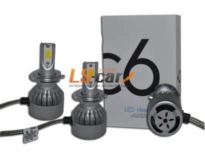 Лампа головного света со светодиодами CREE HB4(9006) 36W/3800LM 6000K 12V(со встр, вентилятором)