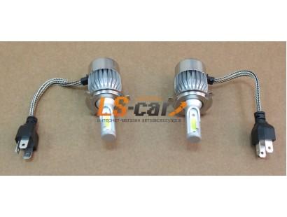 Лампы головного света со светодиодами CREE H4 55/36W 3800LM 6000K 12V