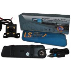 Зеркало внутрисалонное C-25 с HD  видеорегистратором (широкий угол обзора, фронтальная и задняя камеры (HD 1080), проводная установка,  ночное видение, G-sensor (датчик удара), циклическая запись, голосовая запись, детектор движения)