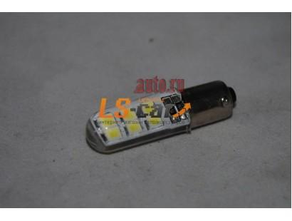 Светодиодная лампа для а/м BA9S-3528-12SMD-Crystall 12V