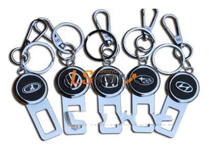 Брелок-заглушка ремня безопасности AA-0380 с логотипом LEXUS с подсветкой, карабином и кольцом