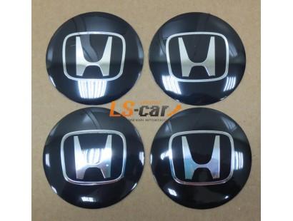 "Наклейка  OR-6 ""HONDA"" на автомоб, колпаки, диски (диаметр 65мм.) пластик/ комп. 4шт."
