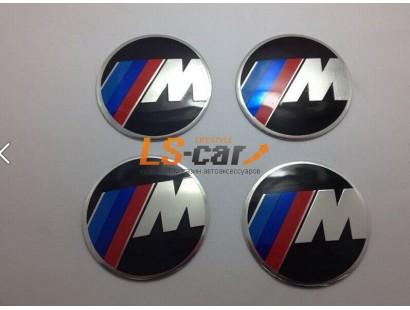 "Наклейка  OR-6 ""M"" на автомоб, колпаки, диски (диаметр 65мм.) пластик/ комп. 4шт."
