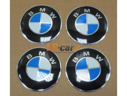 """Наклейка OR-6 """"BMW"""" на автомобильные, колпаки, диски (диаметр 65мм.) пластик/комплект 4шт."""