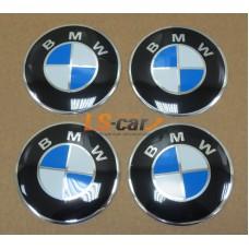 "Наклейка  OR-4 ""BMW"" (диаметр 55мм.) на автомоб, колпаки, диски, пластик/ комп. 4шт."