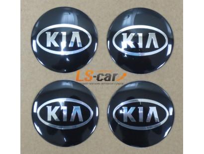 "Наклейка  OR-4 ""KIA"" (диаметр 55мм.) на автомоб, колпаки, диски, пластик/ комп. 4шт."