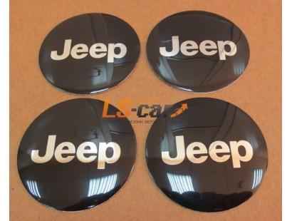 "Наклейка  OR-4 ""JEEP"" на автомоб, колпаки, диски (диаметр 55мм.) пластик/ комп. 4шт."