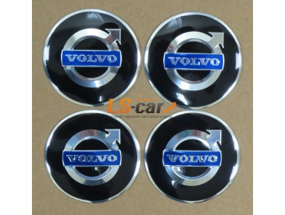 "Наклейка  OR-5 ""VOLVO"" на автомоб, колпаки, диски (диаметр 60мм.) пластик/ комп. 4шт."