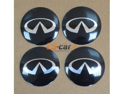 "Наклейка OR-6 ""Infiniti"" на автомоб, колпаки, диски (диаметр 65мм.) пластик/ комп. 4шт."