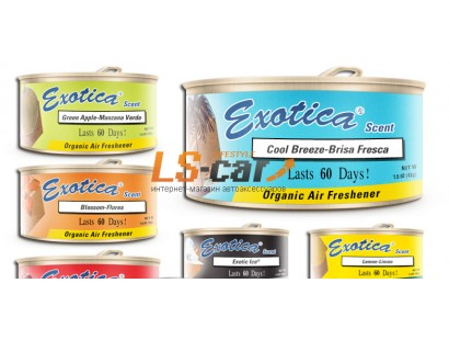 Ароматизатор ж/б organic Exotica Хлопок. Exotica Scent Counter Display  Cotton (Exotica) ESC24-COT/42гр