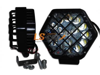 Фонарь светодиодный  JR-48W 13,5*12*7см, LED-16 (9-30V)