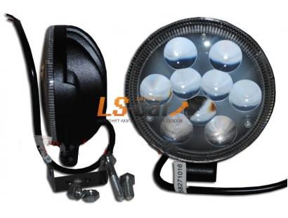 Фонарь светодиодный 85type27W d=11см, c=5см, LED-9 (9-30V)