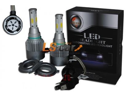 Лампа головного света со светодиодами CREE H4-V6 60W-6000LM 9-32V(со встр, вентилятором)