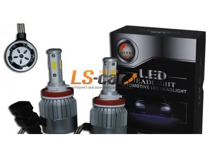 Лампа головного света со светодиодами CREE H8-V6 60W-6000LM 9-32V(со встр, вентилятором)