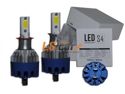 Лампа головного света со светодиодами CREE H3-S4 40W/8000LM 6500K 12-24 V(со встр, вентилятором, беспрововодная)