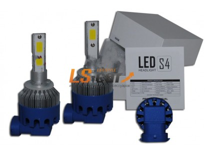 Лампа головного света со светодиодами CREE H27-880-S4 40W/8000LM 6500K 12-24 V(со встр, вентилятором, беспрововодная)