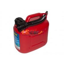 Канистра для топлива Dollex (пластмассовая с носиком 5л)/KPN-005