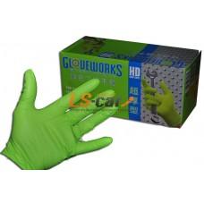Перчатки AMMEX нитриловые рифленые GWGN44100 GREEN размер М (упаковка 100 штук)