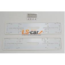 Рамки для номерного знака HJ-PF015 WH белые