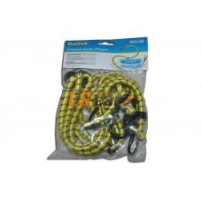Стяжка для крепления груза эластичная длина 80-160см.,толщина  жгута 8мм,6 крюков,диаметр крюка 3,2мм. Dollex /SPD-06