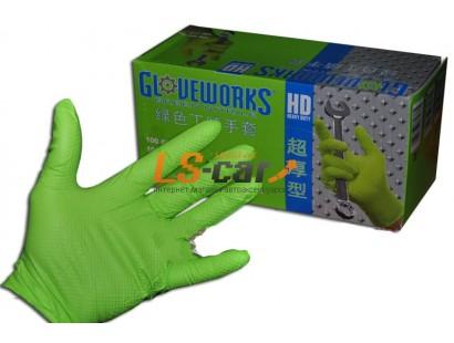 Перчатки AMMEX нитриловые рифленые GWGN44100 GREEN размер М (комплект 2 шт)