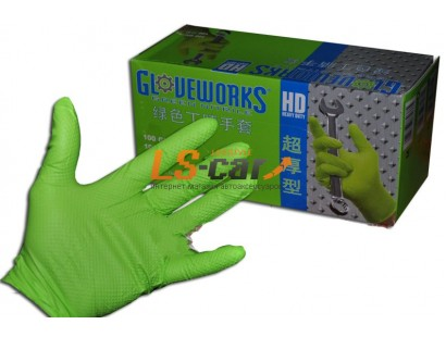 Перчатки AMMEX нитриловые рифленые GWGN46100 GREEN размер L (комплект 2 шт)