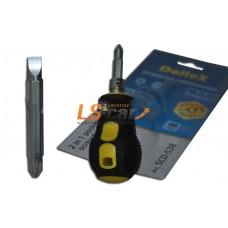 Отвертка комбинированная SL1,2x5x38 + PH2х38, 100 мм 'Professional' Dollex /SCD-538