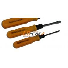 Отвертка комбинированная SL0,5x3x45 + PH1x45, 130 мм Dollex /SCD-345