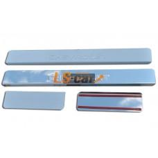 Накладки на пороги CHEVROLET (Spak)  из нержав стали (комп 4шт.) ШТАМП