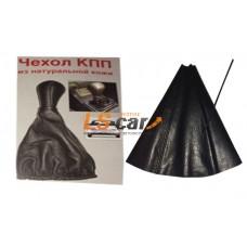 Пыльник КПП ВАЗ 2110-2111, Lada Granta, калина2. кожа,черная