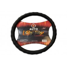 Оплетка на рулевое колесо C-36-1ВК Волна, перфорированная  кожа, черная, размер М