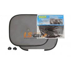 Шторка боковая на присосках черная квадрат 38 х 44 см (2 шт) Dollex/SD-3844