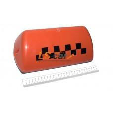 """Знак """"TAXI""""  (шашка) Большой 6 магнитов, подсветка 12V, цвет ОРАНЖЕВЫЙ/ DOLLEX"""