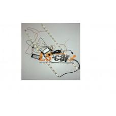 ДНЕВНЫЕ ХОДОВЫЕ ОГНИ Arrow-16 12V ГИБКИЕ 2 функции-Белый+Желтый (на самоклейке) 510мм*10мм