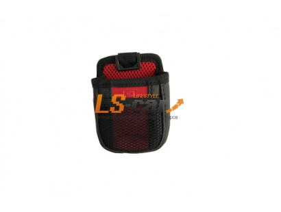Держатель универсальный МЕШОЧЕК РО805 черный-красный (8,5*8*3,5см)  на вентиляцию+на присоске