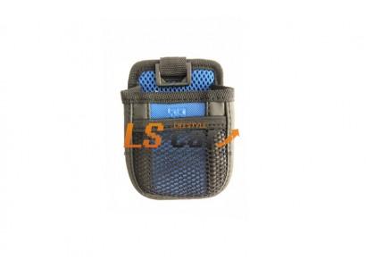 Держатель универсальный МЕШОЧЕК РО805 черный-синий (8,5*8*3,5см)  на вентиляцию+на присоске